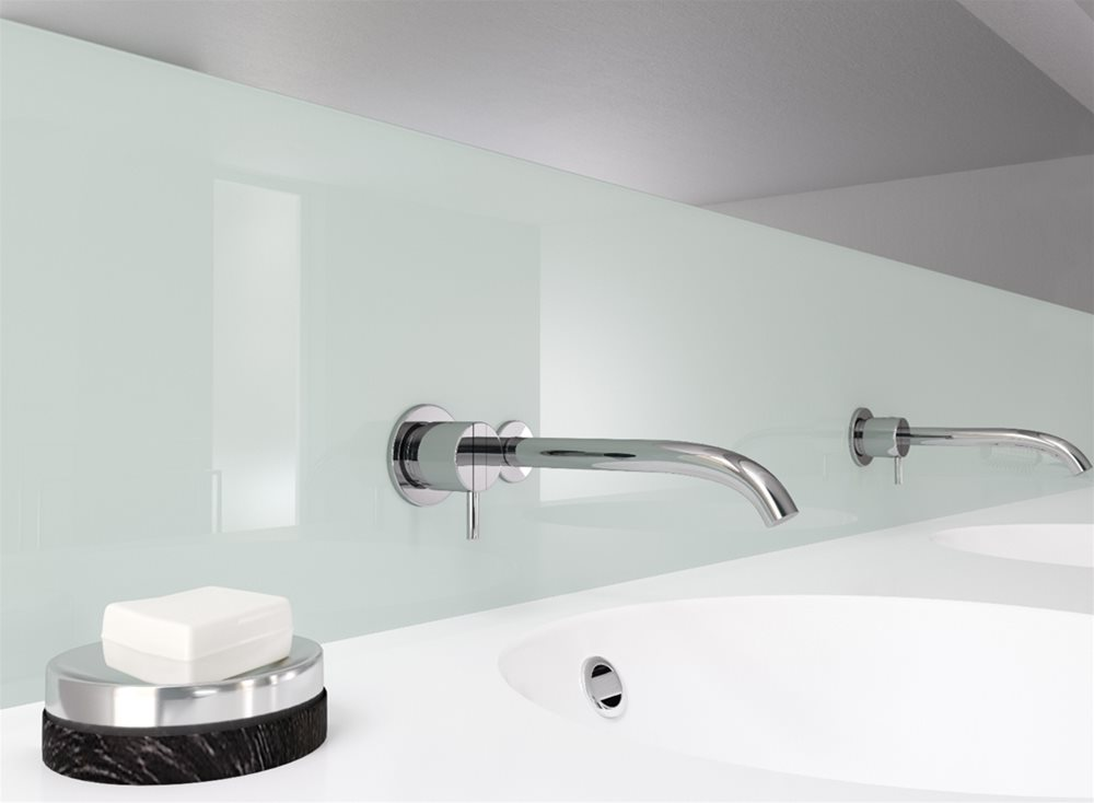 Rehau Crystal Polymeric Glass - excellent replacement for glass splashbacks