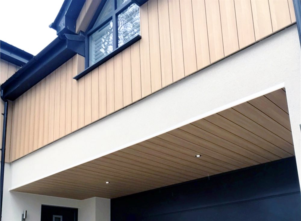 Trepa Pura NFC Cladding vertical application | UK Distributor Performance Panels Limited