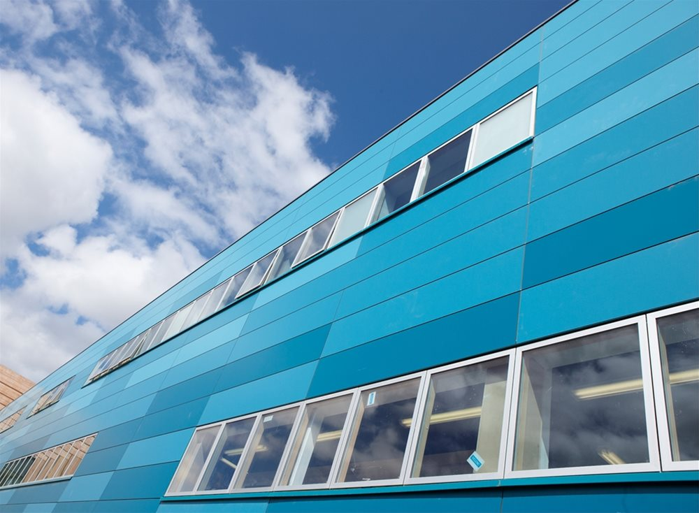 Trespa Meteon blue uni colour |  Trespa laminate | Trespa Panels | Trespa Panel supplier