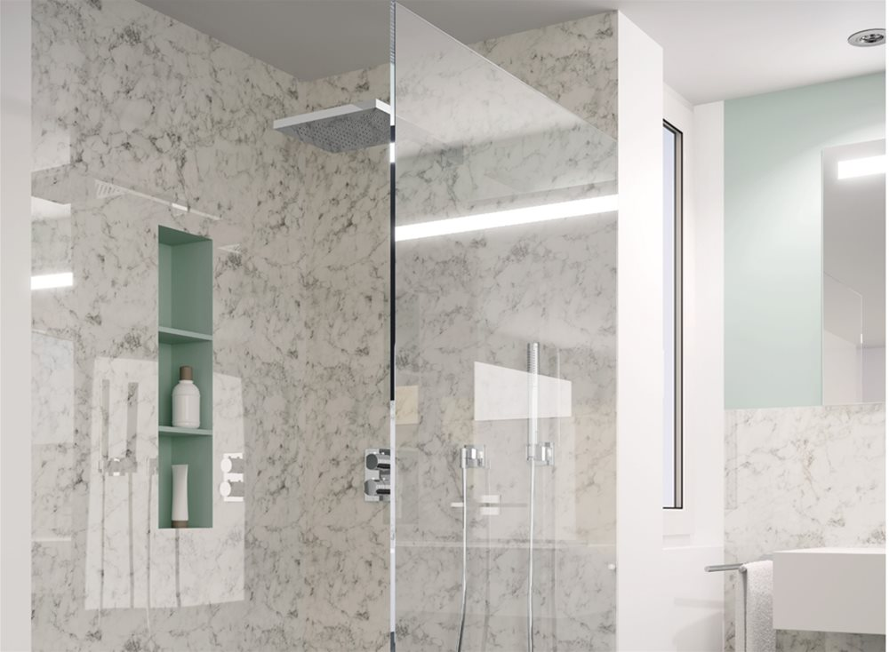 Rehau Crystal Polymeric Glass - New decors for wall linings and furniture fronts