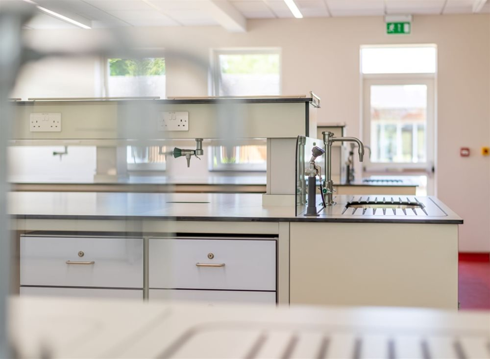 Trespa TopLab panels used for lab work surfaces at BISC