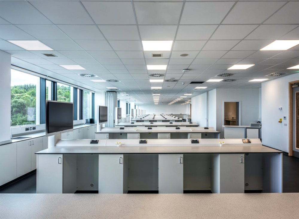 Trespa TopLab Base laboratories at University of West Scotland, Edzell Building